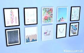 set of 4 framed art set of 4 wall art sim 1 base game piece sets