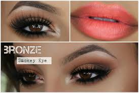 my go to bronze smokey eye soft ombre lips amys makeup box you