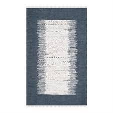 safavieh montauk flat weave ivory and navy area rug