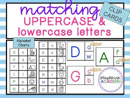 Matching Uppercase Lowercase Letters With Bonus Chart