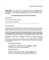 Business Partner Recommendation Letter Example Reference For ...
