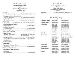 wedding reception program templates free download create a wedding program with these stylish free templates the