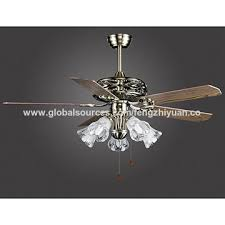 china 52 56 inch ceiling fans with 5 lights kits glass lamp shade