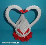 Поделки модульное оригами лебедь