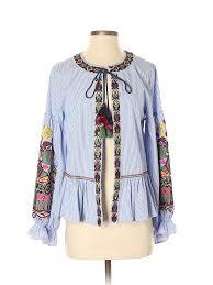 zara women blue jacket xs