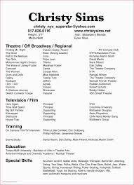 Child Actors Resume Template Free Professional Acting Resume