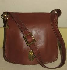 fossil peyton large double flap cross bag zb7101200 brown leather for