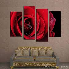 2019 canvas paintings flower paintings beautiful big red rose flower wall art hanging decor art for home decoration hotel bedroom from art oil painting