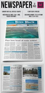 Free Indesign Newspaper Template Newspaper Template Indesign Free Download Magdalene