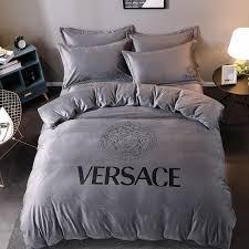 dess print bedding sets grey v