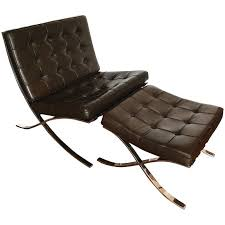 van der rohe furniture. Mocha Brown Leather Barcelona Chair \u0026 Ottoman By Ludwig Mies Van Der Rohe, Knoll For Rohe Furniture D