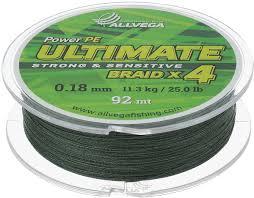 "<b>Леска</b> плетеная <b>Allvega</b> ""<b>Ultimate</b>"", цвет: темно-зеленый, 92 м, 0 ..."