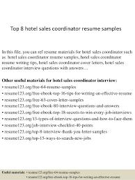 Sample Hotel Resume Cool Top 48 Hotel Sales Coordinator Resume Samples