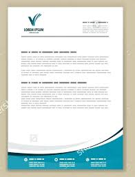 Company Letterhead Templates Adorable Free Vector Company Letter Head Design Template Free Orange