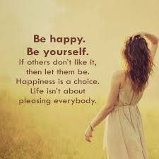 Quotes To Be Happy With Yourself Best of Be Happy Be Yourself Quote Amo