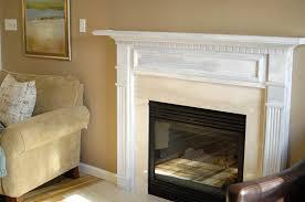 white fireplace mantel