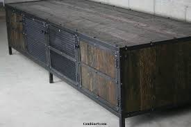 Custom Metal Cabinets Reclaimed Wood Tv Stand Reclaimed Media Console Reclaimed Wood