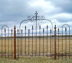 small ornate iron gate for front yard
