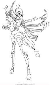 Disegno Winxbloomixmusa Personaggio Cartone Animato Da Colorare