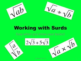 maths gcse foundation and higher working with surds including simplifying and all four rules