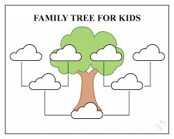 028 Template Ideas Printable Family Tree Templates For Kids