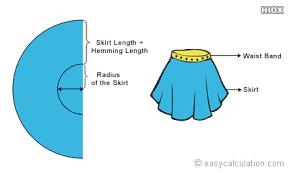 Circle Skirt Chart Circle Skirt Calculator