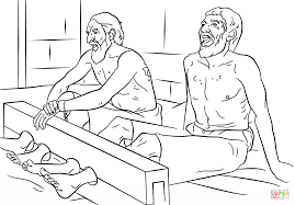 Small Picture Coloring Download Paul And Silas Coloring Page Paul And Silas