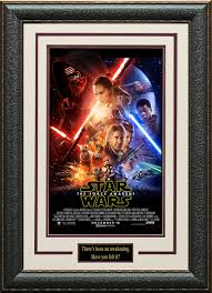 star wars force awakens framed and matted poster 13 gif