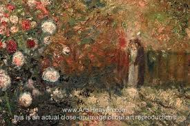monet claude the garden at argenteuil