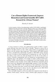 on aids and human rights thesis on aids and human rights