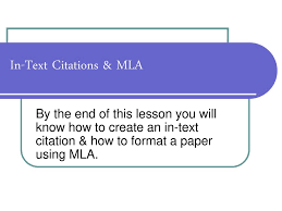 In Text Citations Mla Ppt Download