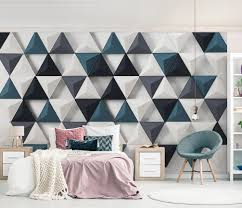Triangle Design Wallpaper Wall Mural Wall Room And Interior Design No Dec_2179 Uwalls Com