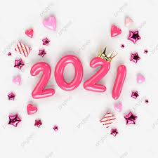 สวัสดีปีใหม่ 2021 ภาพประกอบของตัวเลขสีชมพู 2021 สัญญาณ 3 มิติสมจริง,  หมายเลข, 3d, หลากสีภาพ PNG และ PSD สำหรับดาวน์โหลดฟรี
