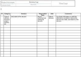 Exelent Decision Log Template Ensign - Resume Ideas - Namanasa.com