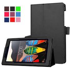 <b>Double</b>-<b>sided tablet case</b> flip solid color drop-proof leather <b>case</b> for ...