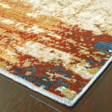 t austin design haugan abstract blue and red area rug 2018 contemporary area rugs