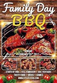 Barbecue Flyers Family Day Bbq Psd Flyer Template
