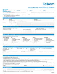 Cancellation Telkom Form Fill Online Printable Fillable Blank