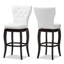 29 inch bar stools. Baxton Studio Leonice Modern And Contemporary White Faux Leather Upholstered Button-tufted 29-Inch 29 Inch Bar Stools I
