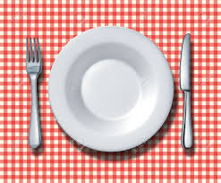 Italian Table Setting Place Setting For A Family Restaurant With A Red And White