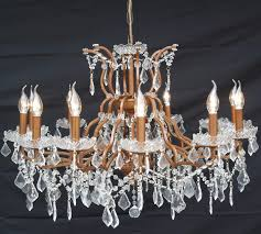 bronze 12 branch arm shallow cut glass chandelier glass chandelier uk