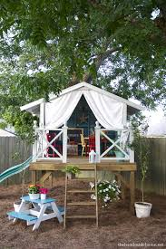 this is a larger diy wooden kids playset that has free planaterials list it s a little more expensive we d it out at around 500 in our area