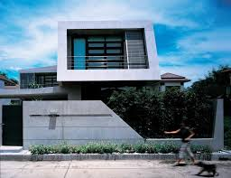 excellent equilibrium house in bangkok thailand by vaslab boundary fence design to blend with green wall and the with boundary wall design for home