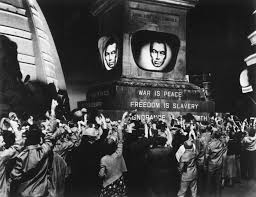 how is turning into george orwell s  a scene from the 1956 film version of 1984 post truth anyone