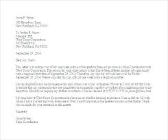 Sample One Week Notice Resignation Letter Template Example