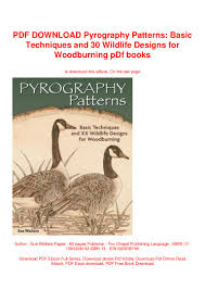 Pyrography Designs Book Pdf Download Pyrography Patterns Basic Techniques And 30