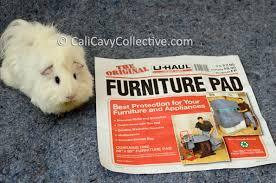 using fleece and u haul furniture pads