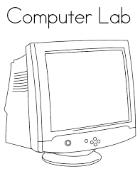 Computer Lab Coloring Sheets Computer Coloring Top Computer Coloring