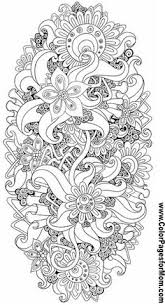free printable flower coloring pages for adults. Beautiful For Flower Abstract Doodle Zentangle ZenDoodle Paisley Coloring Pages Colouring  Adult Detailed Advanced Printable Kleuren Voor Volwassenen And Free Printable Pages For Adults B
