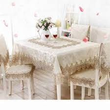 europe elegant lace fl jacquard home kitchen party tablecloth set suit table cloth rectangular round table